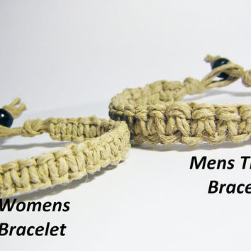 Men & Womens Bracelets, Matching Bracelets, Macrame Bracelets, Couples GIft, Personalized Jewelry, Couples Hemp Bracelets,