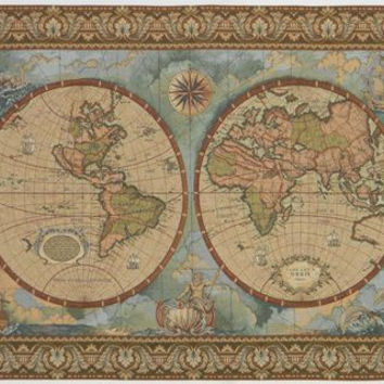 Antique Map (Z079) Italian Tapestry Tapestry Wall Art Hanging