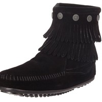 Minnetonka 2 Layer Fringe 699 Black Boots
