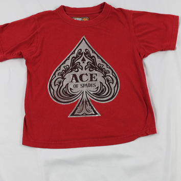 "Boys Urban Pipleline ""Ace of Spades"" Short Sleeve Top, size Small"