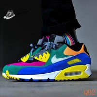 HCXX 19Aug 1092 Nike Air Max 90 QS Viotech 2.0 CD0917-300 Sneaker Breathable Running Shoes