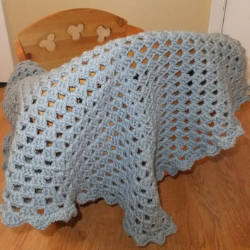 Sweet Blue Dreams Baby Blanket PDF Crochet Pattern - PDF Baby Blanket Crochet Pattern