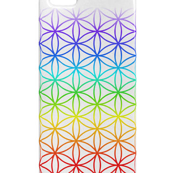 Chakra Flower of Life on White iphone 5 & 5S Plastic Case All Over Print