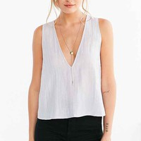 Silence + Noise Jen Deep-V Shell Tank Top