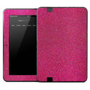 Pink Fabric Skin for the Amazon Kindle