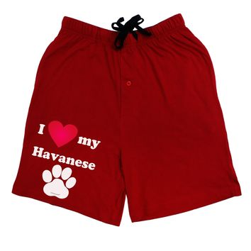 I Heart My Havanese Adult Lounge Shorts  by TooLoud