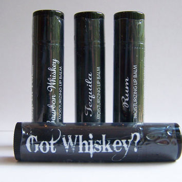 GOT WHISKEY LipBalms-Variety Pack of 3 Flavors-You choose Flavors-New Years Bachelorette Bachelor party Wedding favors
