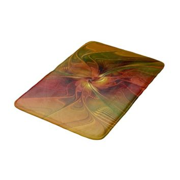 Warmth, Abstract Fractal Art Bathroom Mat