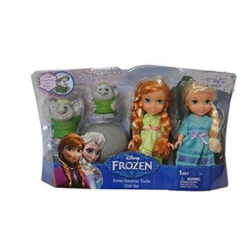 Frozen Petite Toddler Princess & Surprise Trolls Doll Play Set
