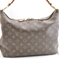 Authentic Louis Vuitton Monogram Sully PM Shoulder Bag M40586 LV 41152