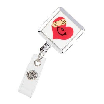 Badge Holder Reel Nurses Retractable Mended Heart ID Avenue 100649