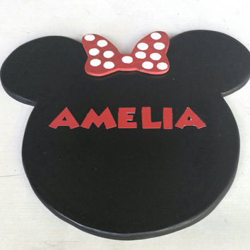 Minnie Mouse Name Plaque
