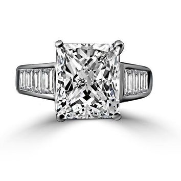 5 CT. (12x10mm) Radiant cut Diamond Veneer 14K gold Classic Cocktail/Wedding/Engagement Ring 635R7817K