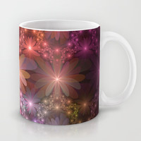 Bed Of Flowers Abstract, Fractal Art Mug by Gabiw Art
