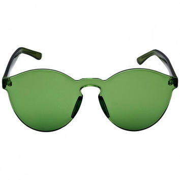 green transparent cat eye sunglasses from midnight bandit. Black Bedroom Furniture Sets. Home Design Ideas