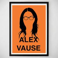 Orange is the New Black Alex Vause Art print, digital art, Home Decor, Apartment, Dorm
