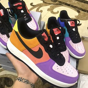 Nike Air Force 1 x Atmos AF1 Colorblock Flat Sneakers Shoes