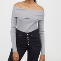 Off-the-shoulder Sweater - from H&M