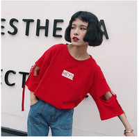 Buy Cocoma 3/4-sleeve Lettering T-Shirt | YesStyle