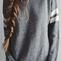 Classic Grey Knit Sweater