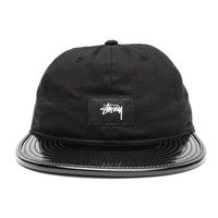Stussy - Patent Leather Visor 5-Panel Cap (Black)