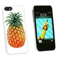 Graphics and More Pineapple Snap-On Hard Protective Case for iPhone 5/5s - Non-Retail Packaging - White
