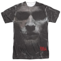SONS OF ANARCHY JAX SKULL Short Sleeve T-Shirt 100% Polyester