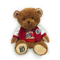 1D One Direction 22 inch Two Tone Teddy Bear with Varsity Jacket and Group Photo T-Shirt