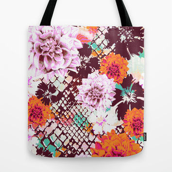 Croc Floral Tote Bag by Aimee St Hill