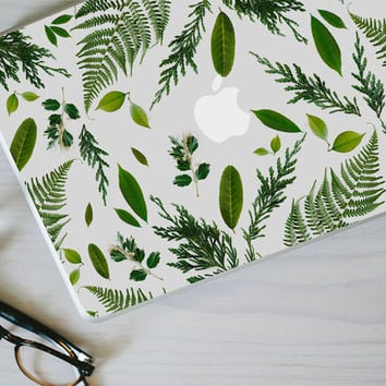 Leaf Macbook Decal - Genuine Leaf, Fern and Foliage MacBook Laptop Skin