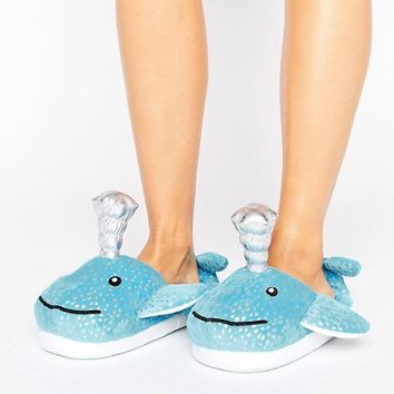 ASOS NESSIE Whale Slippers at asos.com