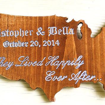 Wood Sign Custom,50th anniversary,wedding table decor,gift for anniversary,rustic home decor,America Map,established sign,art decor