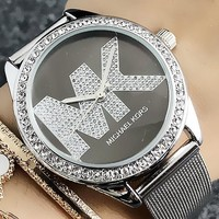 Michael Kors MK Woman Men Fashion Diamonds Quartz Classic Wristwatch Watch