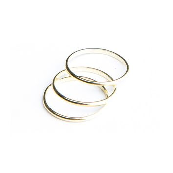 Brandy ♥ Melville |  Gold Three Ring Set - Rings - Jewelry - Accessories