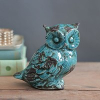 Wise Owl Decorative Statue