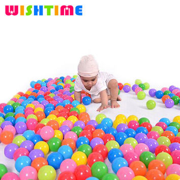 50pcs or 100pcs lot Colorful Soft Plastic Stress Air Balls Funny Ocean Balls Toys For Play Pit Baby Pool Outdoor Fun Sports