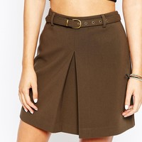 New Look Aline Box Pleat Skirt