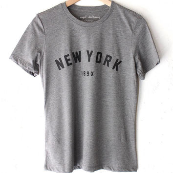 New York 199x Grey Tri-blend Relaxed Tee