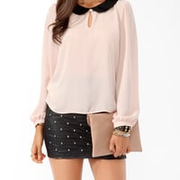 Layered Peter Pan Collar Top