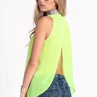 Turn On The Lights Snake Collar Top - $32.00 : ThreadSence.com, Free-spirited fashion for the indie-inspired lifestyle