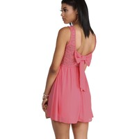 Coral Bow Back Dress