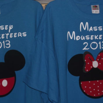 Minnie Mickey Mouse Mouseketeers - Disney Birthday Family Custom T-Shirt Personalized Applique