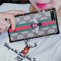 Gucci print phone shell phone case for Iphone 6/6p/7p/7/x