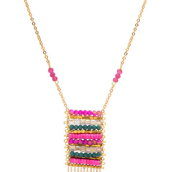 Anytime Abacus Necklace - Pink