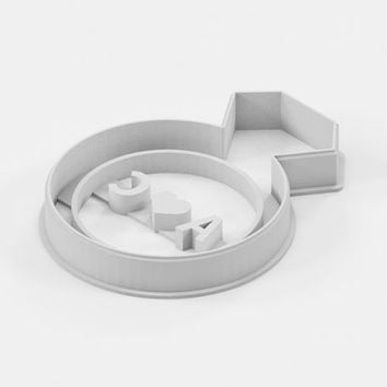 Custom Engagement Ring Cookie Cutter - Personalized Wedding Cookie Cutter Love Cookie Cutter Diamond Ring Valentines Day - 3D Printed