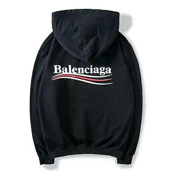 Balenciaga Autumn Winter Trending Women Men Stylish Print Hoodie Sweater Top Sweatshirt Black