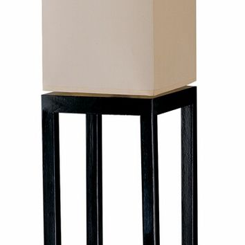 A.M.B. Furniture & Design :: Accessories :: Floor Lamps :: Contemporary Style Black Wood Finish With Beige Canvas Shade Floor Lamp
