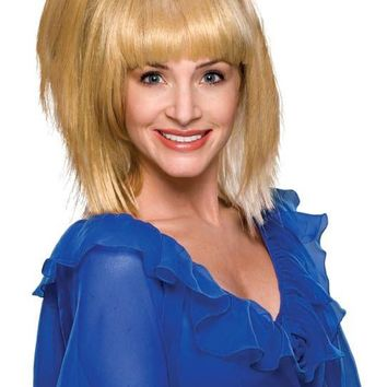 70's Blonde Prom Girl Wig