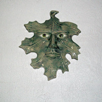 Ceramic Leaf Person Plaque Summer