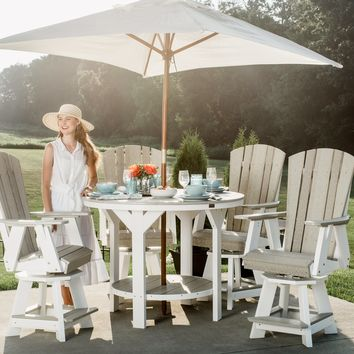 Wildridge Recycled Plastic Heritage 5 Piece Swivel Chair Pub Table Set  - Ships in 10-14 Business Days